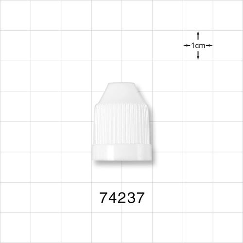 Ribbed Child-Resistant Screw Cap, White for 74225 and 74226 - 74237