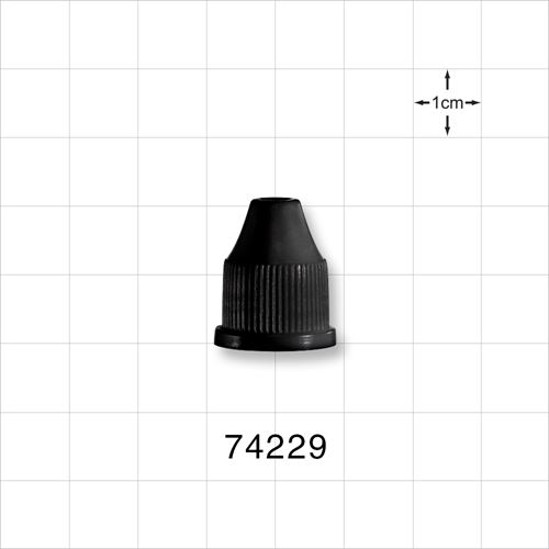 Ribbed Screw Cap, Black for 74225 and 74226 - 74229