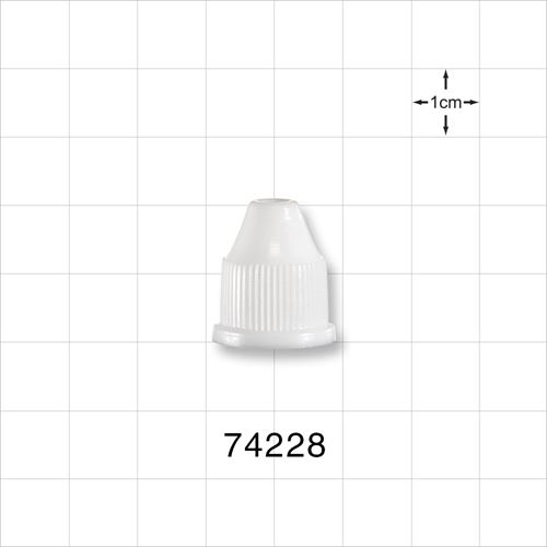 Ribbed Screw Cap, White for 74225 and 74226 - 74228