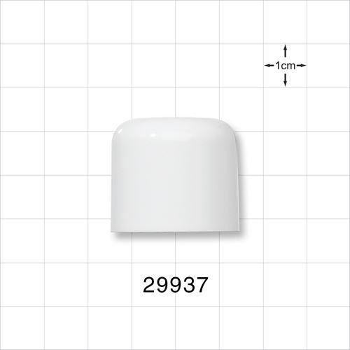 White Overcap for 29936 - 30 ml White Cylinder Bottle - 29937