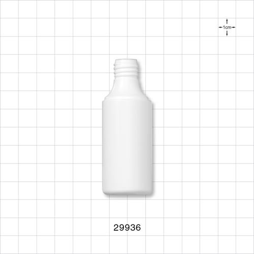 Cylinder Bottle, White - 29936