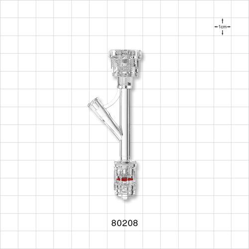 Hemostasis Valve Y Connector, Rotating Male Luer Lock, Female Luer Lock Sideport - 80208