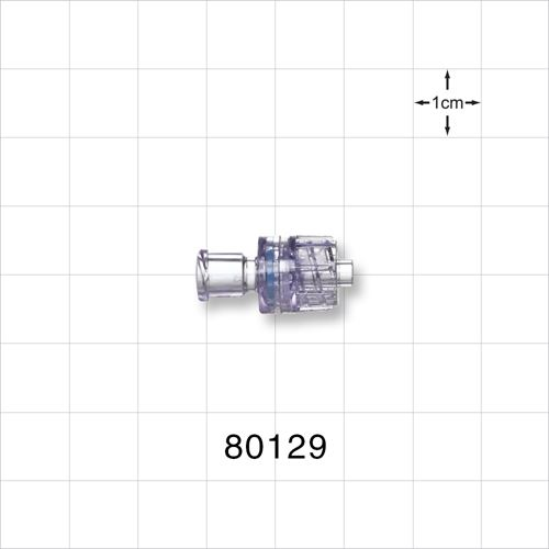 Check Valve, Female Luer Lock Inlet, Male Luer Lock Outlet - 80129