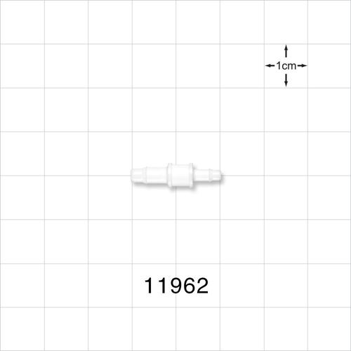 Straight Connector, White, Barbed Reducer - 11962