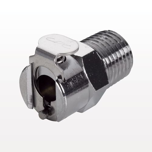 Coupling Body, Straight Thru, Chrome-Plated Brass in-line Pipe Thread - MC1002
