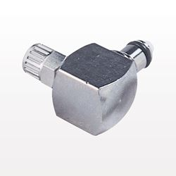 Coupling Insert, Straight Thru, Chrome-Plated Brass, Elbow Ferruleless Polytube Fitting - MC2104