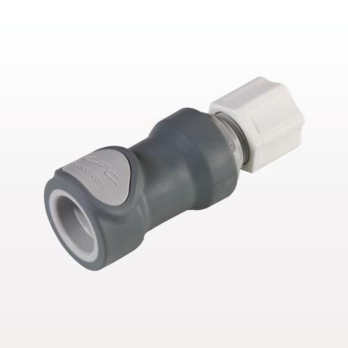 NS6 Series Coupling Body, Shutoff Polypropylene In-Line Compression - NS6D13008