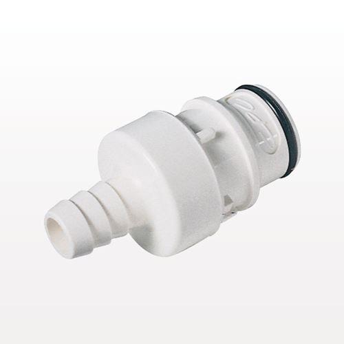 NSF Series - HFCD221035 -  5/8 Inch Hose Barb Shutoff In-Line Coupling Insert, NSF / Food Grade - NSF89300