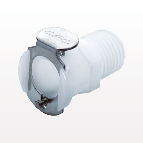 PLC Series Coupling Body, Straight Thru Acetal In-Line Pipe Thread - PLC10006