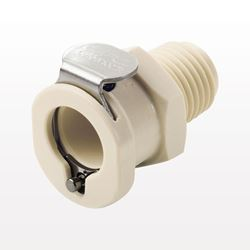 PLC12 Series Coupling Body, Straight Thru Polypropylene In-Line Pipe Thread - PLC1000412