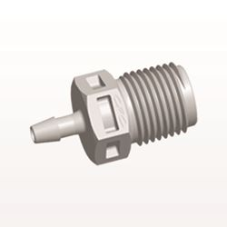 Straight Connector, Barbed, Natural - N4S3