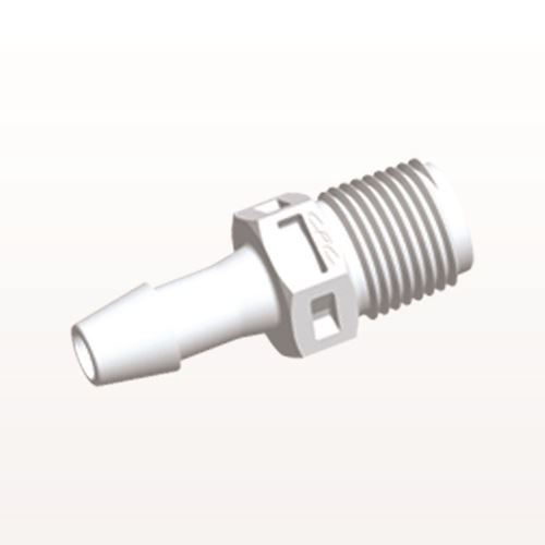 Straight Connector, Barbed, White - N4S630
