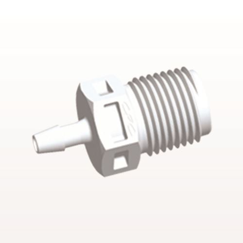 Straight Connector, Barbed, White - N4S330