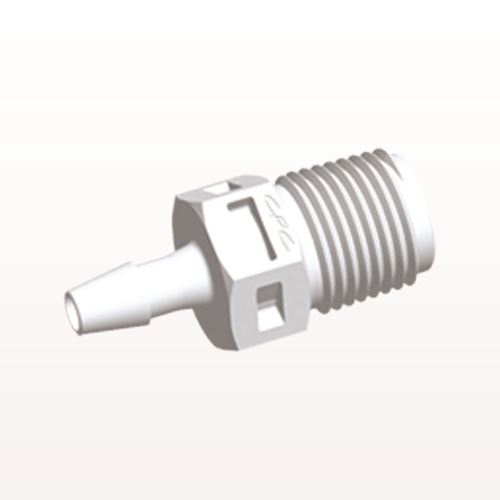 Straight Connector, Barbed, White - N4S430