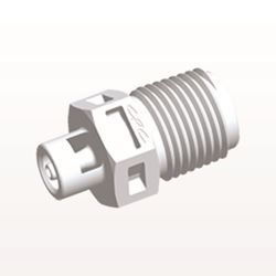 Straight Connector, Barbed, White - N4S230