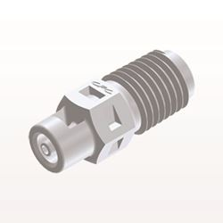 Straight Connector, Barbed, White - N2S230