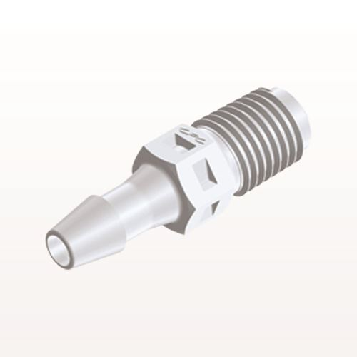 Straight Connector, Barbed, White - N2S530
