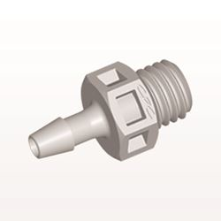 Straight Connector, Barbed, Natural - KS3