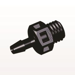 Straight Connector, Barbed, Black - KS331