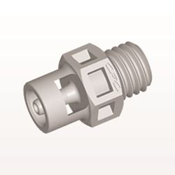 Straight Connector, Barbed, Natural - KS2