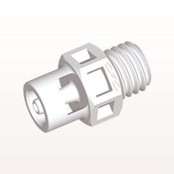 Straight Connector, Barbed, White - KS230