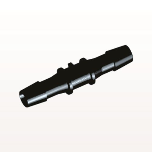 Straight Connector, Barbed, Black - HS1231