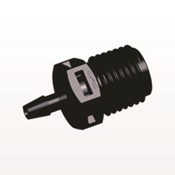 Straight Connector, Barbed, Black - N8S431