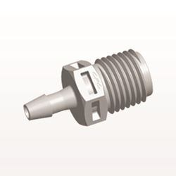 Straight Connector, Barbed, Natural - N8S5