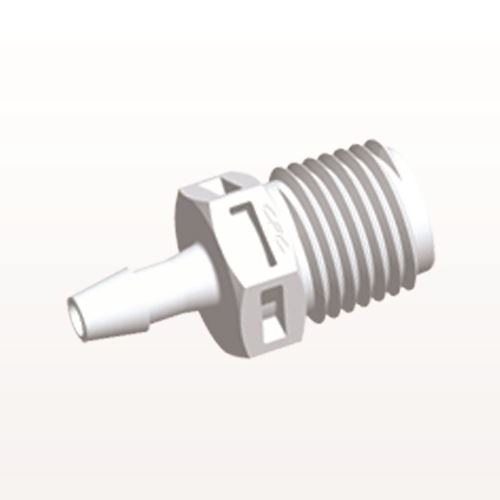 Straight Connector, Barbed, White - N8S530