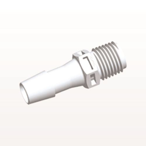 Straight Connector, Barbed, White - N8S1230