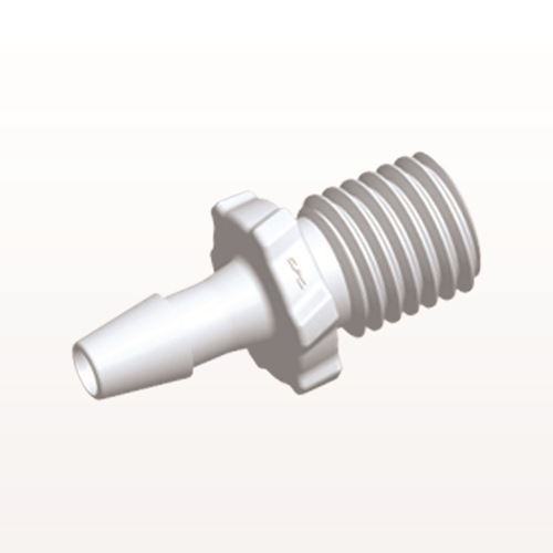 Screw-type Connector, White, 5/16 UNF Thread with Barb - GS420