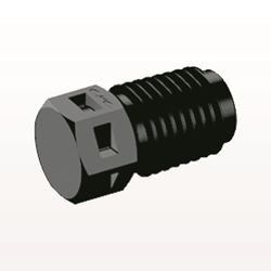 Threaded Plug, Black - N2P31