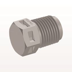 Threaded Plug, Natural - N4P