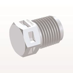 Threaded Plug, White - N4P30