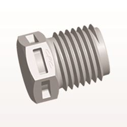 Threaded Plug, Natural - N8P