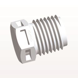 Threaded Plug, White - N8P30