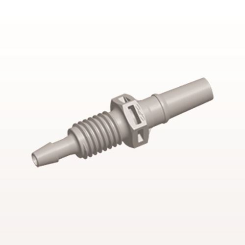 Male Luer Slip to Panel Mount with Barb, Natural - PMLM31
