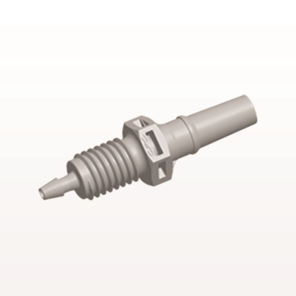Male Luer Slip To Panel Mount With Barb Natural Pmlm21