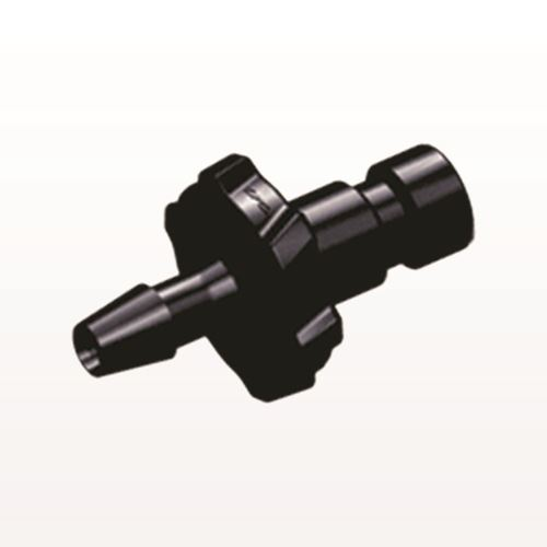 Bayonet Male Connector, Barbed, Black - BC331