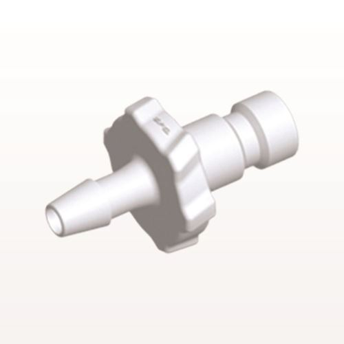 Bayonet Male Connector, Barbed, White - BC330