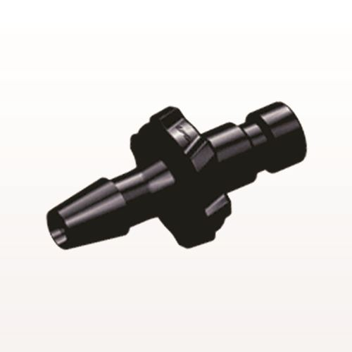 Bayonet Male Connector, Barbed, Black - BC431