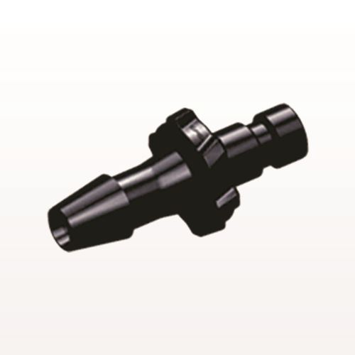 Bayonet Male Connector, Barbed, Black - BC531