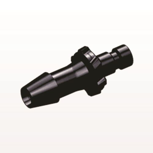 Bayonet Male Connector, Barbed, Black - BC631