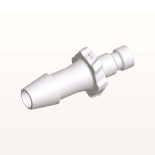 Bayonet Male Connector, Barbed, White - BC630
