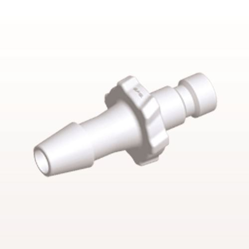 Bayonet Male Connector, Barbed, White - BC530