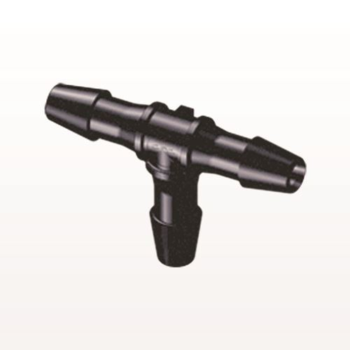 T Connector, Barbed, Black - HT331