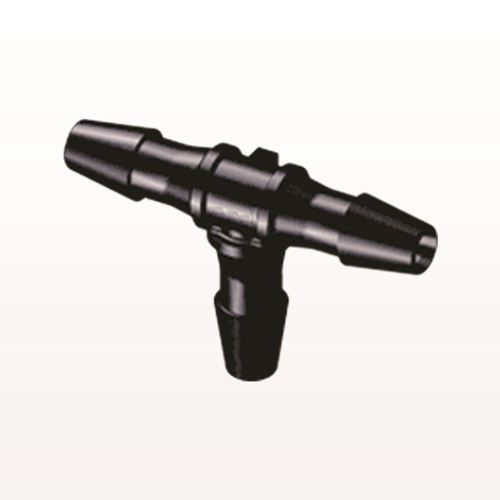T Connector, Barbed, Black - HT431