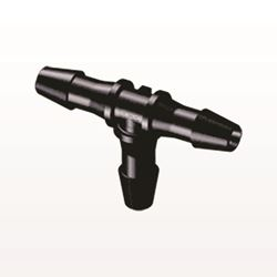 T Connector, Barbed, Black - HT531
