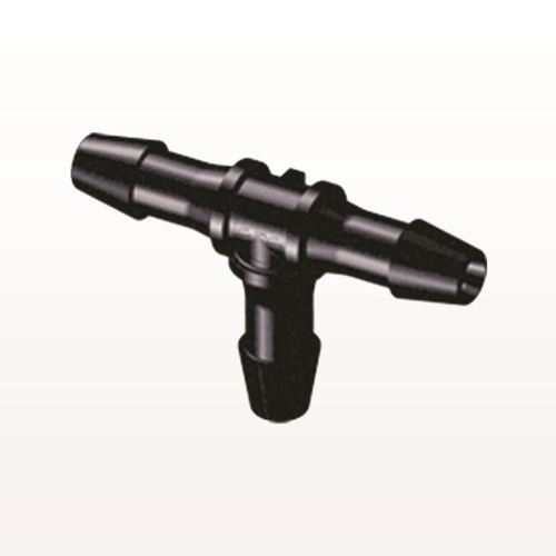 T Connector, Barbed, Black - HT631