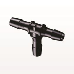 T Connector, Barbed, Black - HT1231